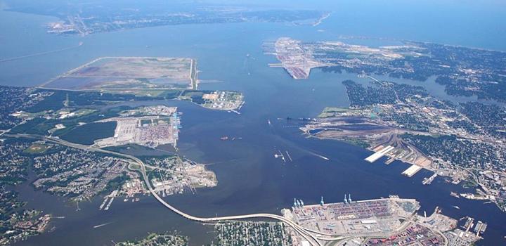 Port of Virginia, aerial